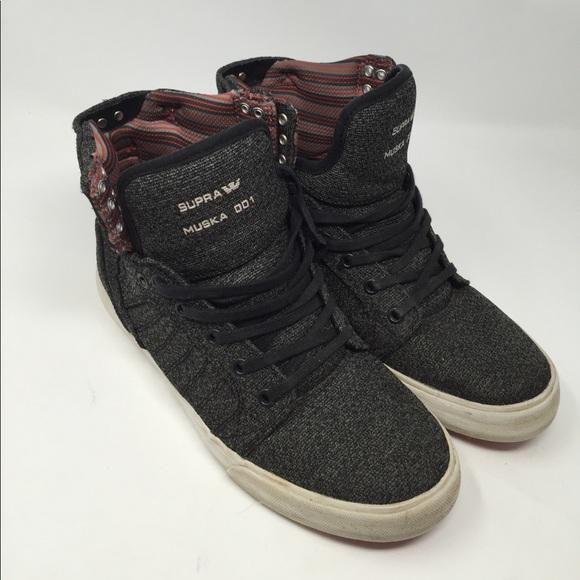 Supra Muska Mens 001 Grey Sneakers 8.5. M 59b684cd522b45188708534f 4afae85f721c