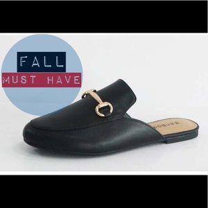 Shoes - Coming Soon!! Black flat loafer slides