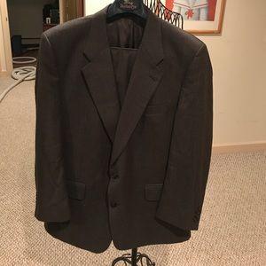 Men's Plaid Burberry's Suit Wool
