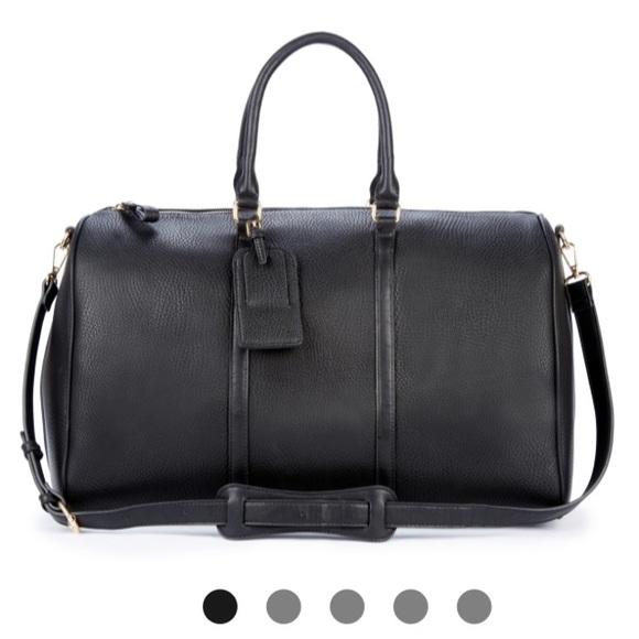 82263f2e76 Lacie vegan leather weekender bag
