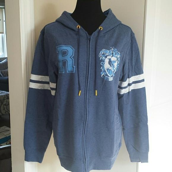 f8135768 Harry Potter Tops - Harry Potter Ravenclaw Fleece Lined Zip Up Hoodie