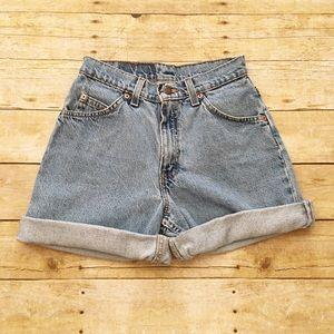 Levi's 950 high waist vintage orange tab shorts 24