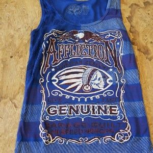 Womens stars and stripes affliction tank top