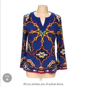 Nicole by Nicole Miller tunic blouse Top shirt med