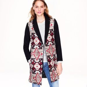 Brand New JCrew Collection Silk/Wool Coat