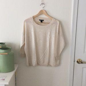 Cream lightweight crew neck sweater