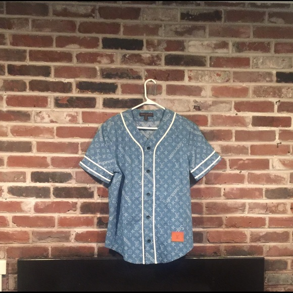 797a9ec244f1 Louis Vuitton Other - Supreme X Louis Vuitton Baseball Jersey Blue