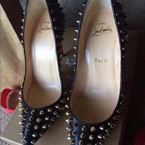 17e0e5114ad5 Christian Louboutin Shoes - CHRISTIAN LOUBOUTIN SPIKES FOLLIES 100MM SIZE  5.5