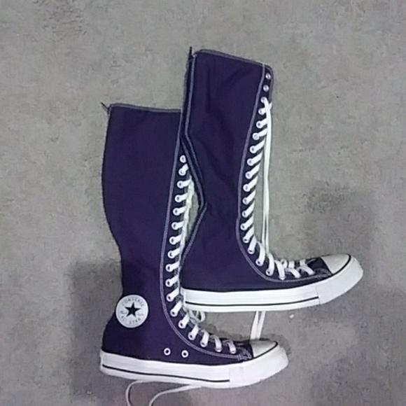 Converse Shoes - Purple Converse knee high lace up shoes a175f3c2a516