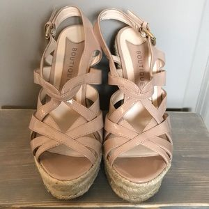 Boutique 9 Nude Wedges 6.5
