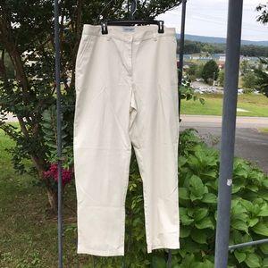 NWT Cabin Creek Womenu0027s Cream Khaki Pants Size 18W