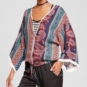 Jackets & Blazers - Antique Blue Kimono Bomber