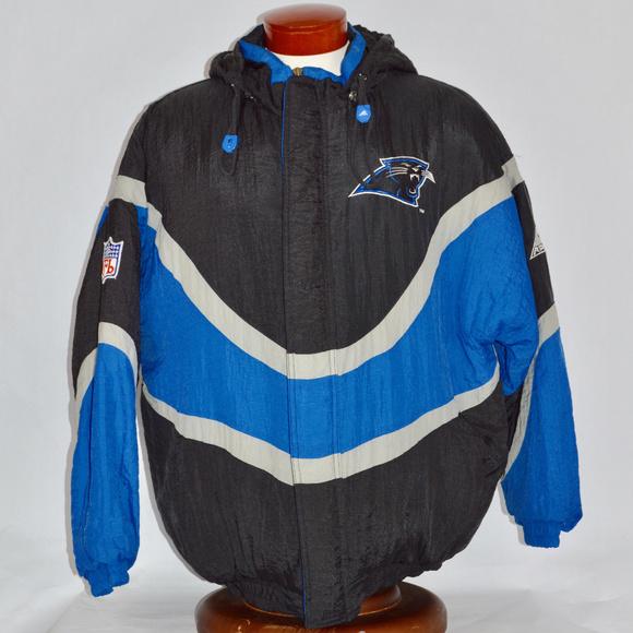 purchase cheap 9a4b7 29c3a Carolina Panthers VTG NFL Apex One Pro Line Coat