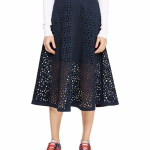 Dkny midi laser cut skirt