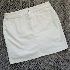 Christopher & Banks White Jean Skirt