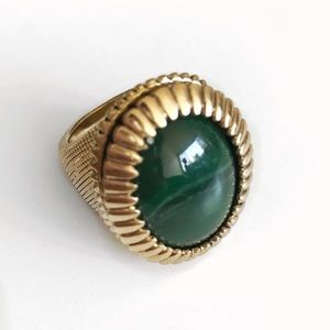 House of Harlow Green Oval Cocktail Ring
