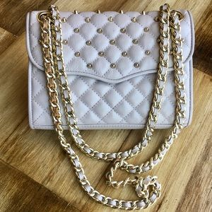 Rebecca Minkoff Quilted Studded Affair lilac mini