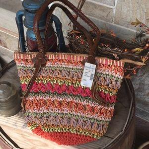 Woven handbag NWT