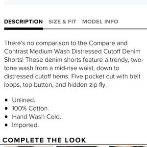 Shorts - Medium Wash Distressed Cutoff Denim Shorts