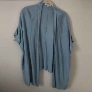 LaRok light blue short sleeve cardigan sweater