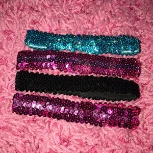 Set of 4 sequins headbands from Claire's
