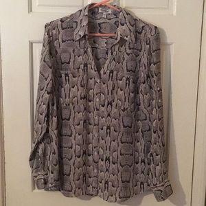 Snake print express portofino shirt