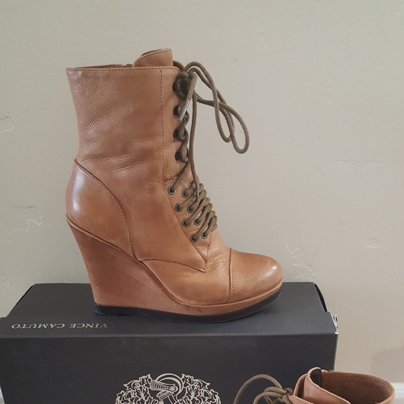 dff6645d40f Vince Camuto Suni Wedge Lace Up Boots