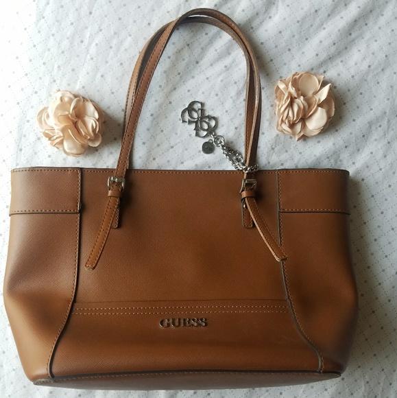 🎉⚠PRICE DROP⚠ GUESS Tote Bag Cognac