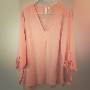 Long sleeve Pink Blouse XL