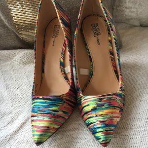 Pranal Gurung for Target multicolored satin heels