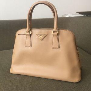 Small Camel Prada bag