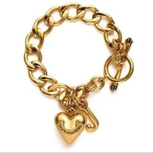 Juicy Couture Women's Gold Heart Starter Bracelet