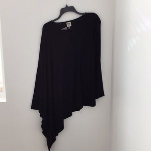 Black Asymmetrical Anne Klein sweater