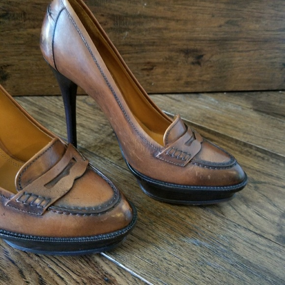 2e728d0dbab Ralph Lauren Collection Platform Loafers heels