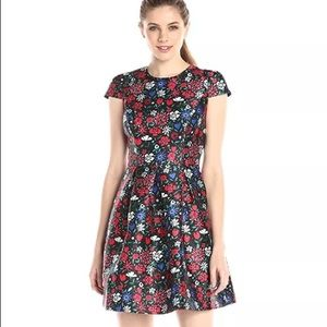 Shoshanna Floral Paris Dress Sz 8 NWT Flame Multi
