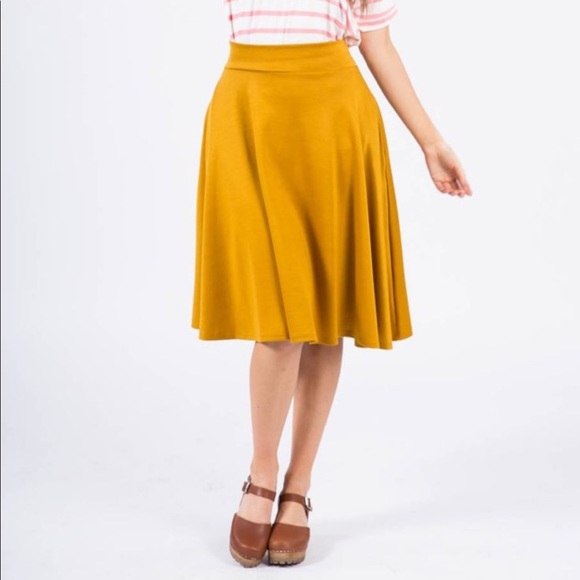 7c860d34b8 Agnes & Dora Dresses & Skirts - XXL Mustard Yellow Agnes and Dora Midi Skirt