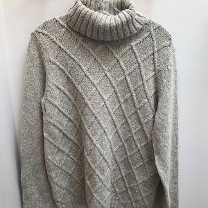Anne Klein Grey Turtleneck Sweater