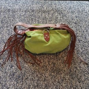 Cole Haan G Series Green Brown Hobo Purse