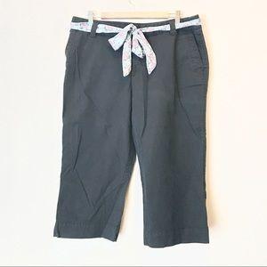 Cropped Charcoal Khakis
