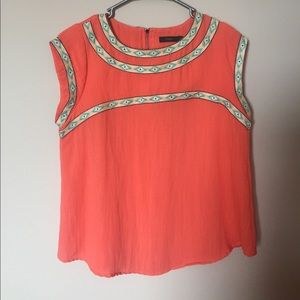 Thml Embroidered Blouse- Size Medium