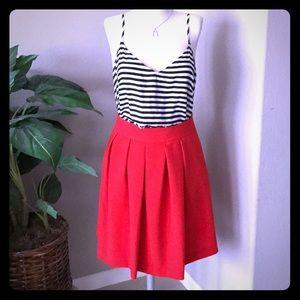 🆕 listing! Preppy skirt in reddish-orange