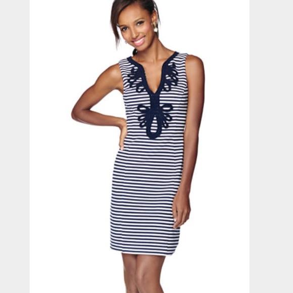 Lilly Pulitzer Womens Janice Striped Sheath Dress