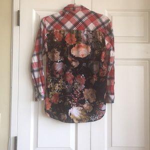 LF Plaid Floral Millau XS Flannel