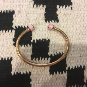 henri bendel Jewelry - Henri Bendel gold and pink cuff bracelet