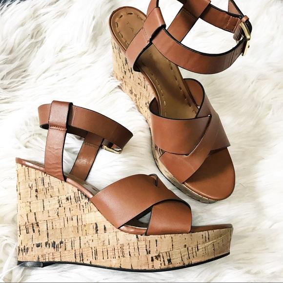 f4dc2d5347b Tahari Stevie brown cork Sandal Wedges 7.5. M 59b6ea3e981829136a09b992