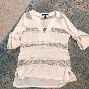 Ivory lace tunic blouse. Sz. M