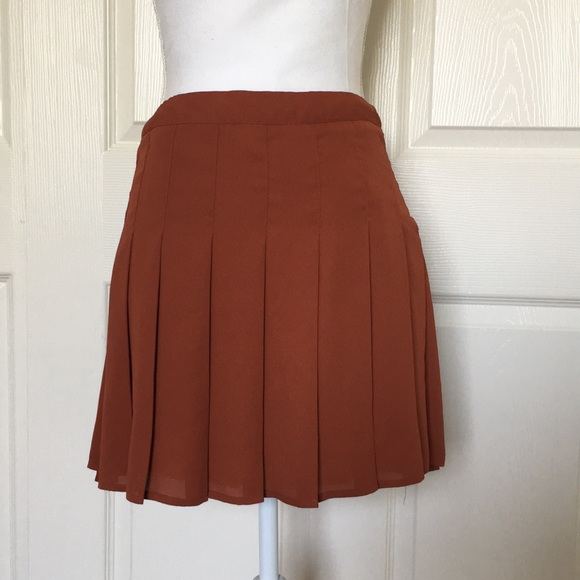 80d71d0cfe Forever 21 Skirts | Burn Orange Pleated Skirt | Poshmark