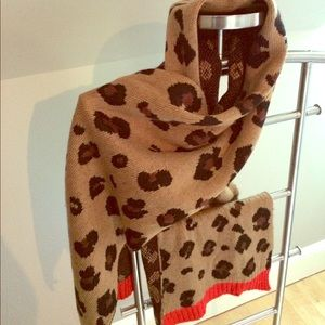 Extra large extra soft animal print winter scarf