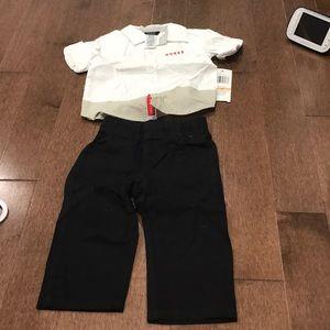 Guess dress shirt and pants. Sleeves are long
