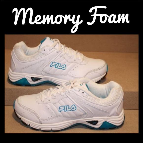 Women's WhiteBlue FILA Sneaker Memory Foam Sole NWT